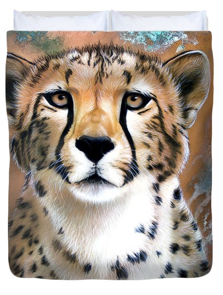Copper Flash - Cheetah Duvet Cover