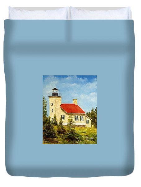 Copper Harbor Lighthouse Duvet Cover by Lee Piper