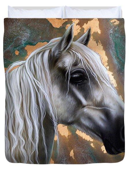Copper Horse Duvet Cover