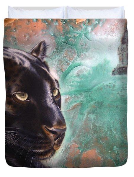 Copper Jaguar Duvet Cover