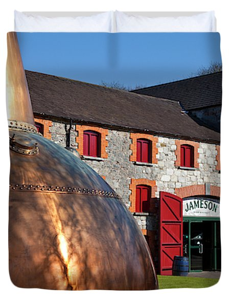 Irish whiskey duvet covers fine art america copper still at midleton whiskey duvet cover malvernweather Gallery