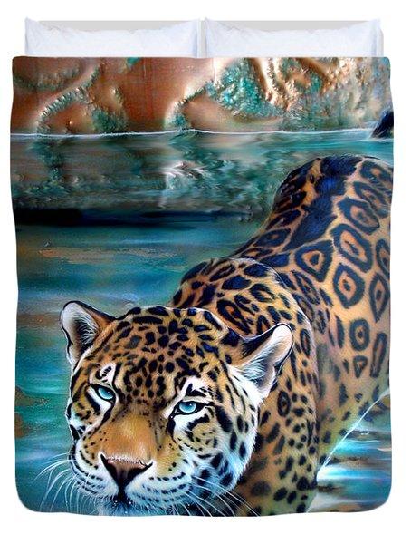 Copper - Temple Of The Jaguar Duvet Cover