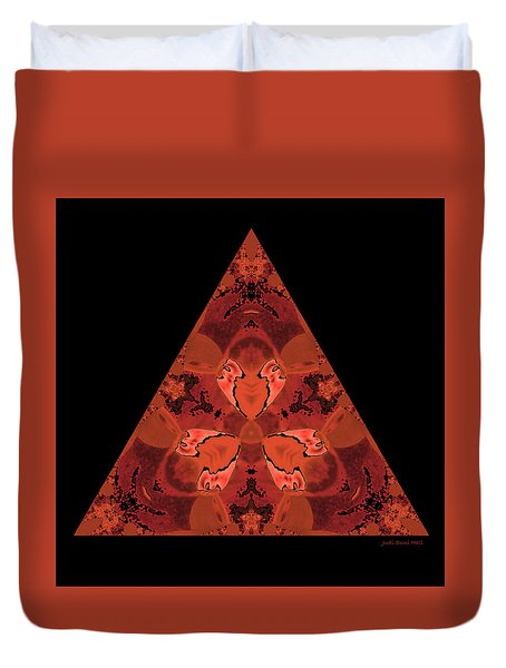 Copper Triangle Abstract Duvet Cover