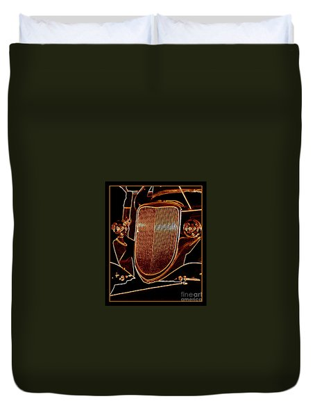 Duvet Cover featuring the photograph Copper Works by Bobbee Rickard