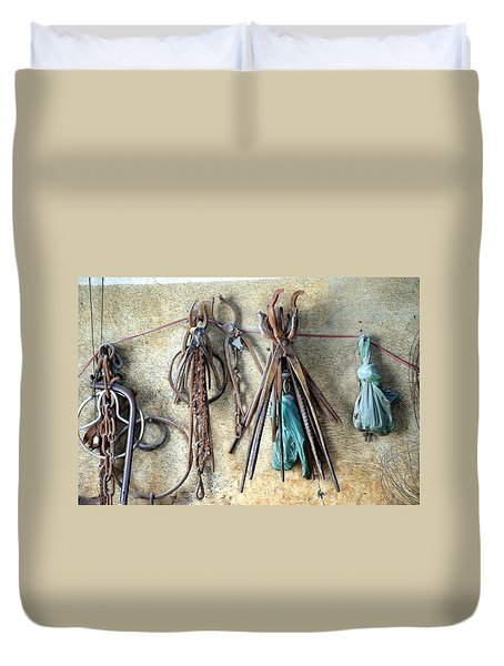 Coppersmith Tools Duvet Cover by Debi Demetrion