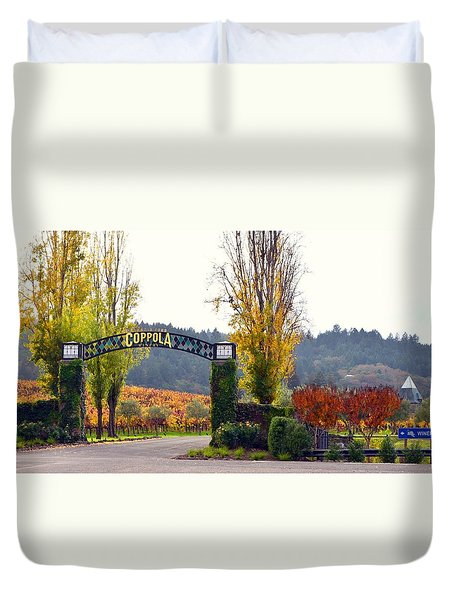 Coppola Winery Sold Duvet Cover