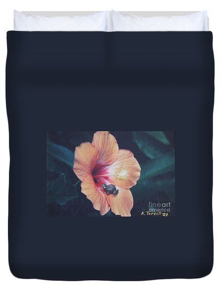 Coqui  Duvet Cover by The Art of Alice Terrill