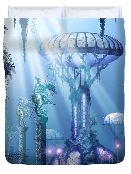 Coral City   Duvet Cover