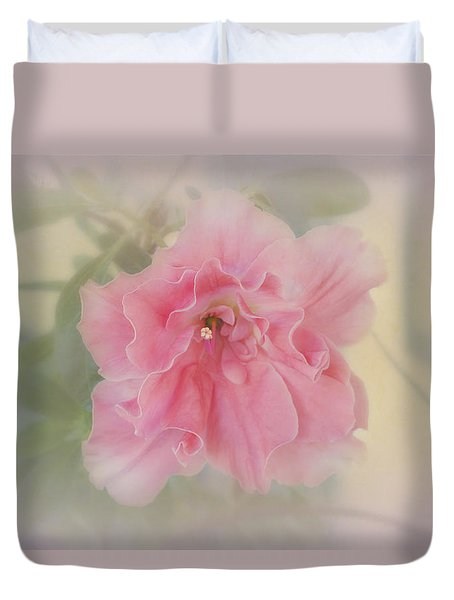 Duvet Cover featuring the photograph Coral by Elaine Teague