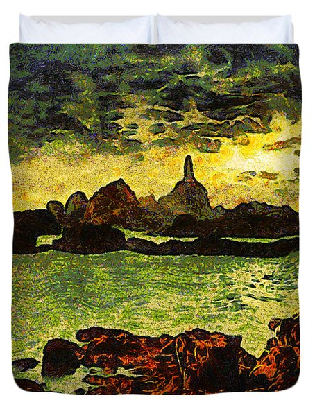 Corbiere Lighthouse Duvet Cover by Unknown