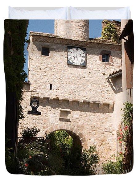 Cordes Sur Ciel Clock Gate Tarn Duvet Cover