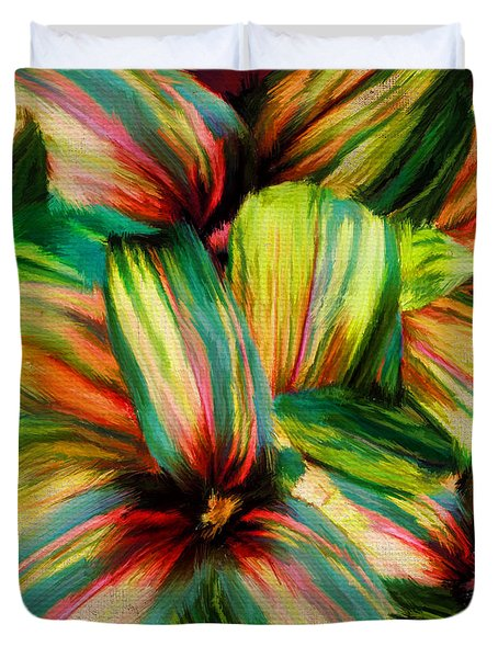 Cordyline Duvet Cover by Lourry Legarde