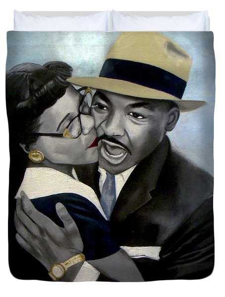 Coretta And Martin Duvet Cover