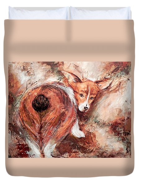 Corgi Butt Duvet Cover