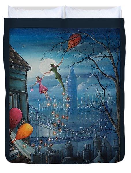 Corinna's Birthday Flight Duvet Cover