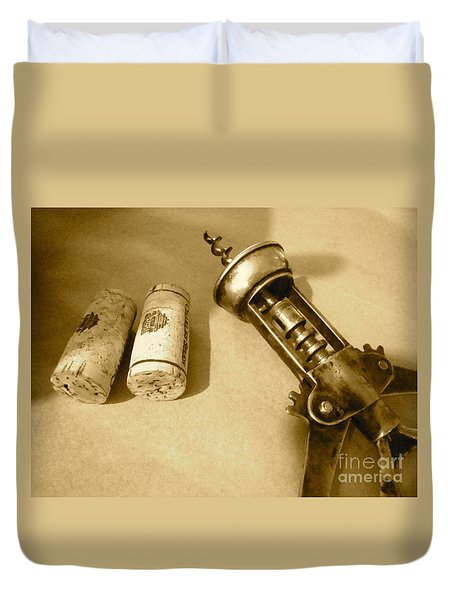 Corkscrew Duet Duvet Cover by Cathy Dee Janes
