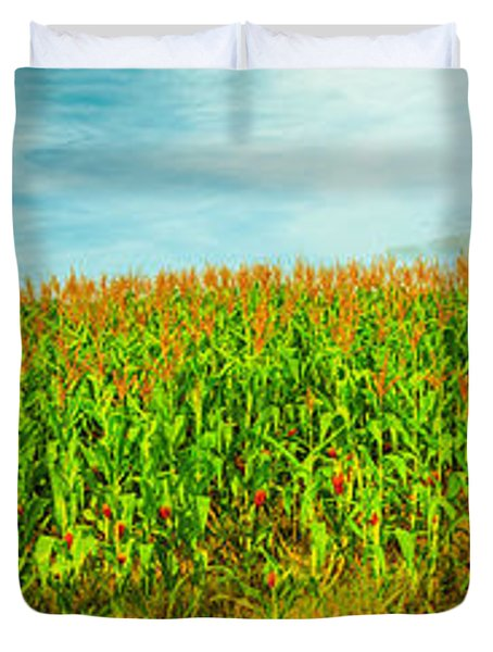 Corn Crop Duvet Cover by MotHaiBaPhoto Prints
