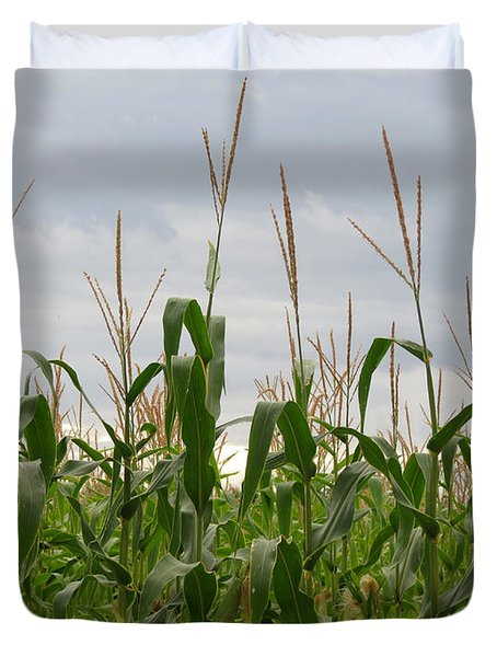 Duvet Cover featuring the photograph Corn Field by Laurel Powell