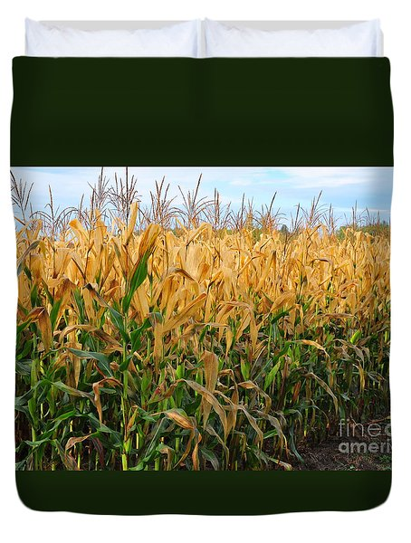 Corn Harvest Duvet Cover