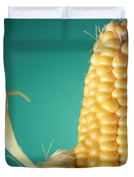 Corn On The Cob Duvet Cover by Sharon Dominick