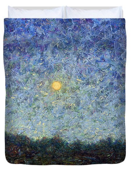 Duvet Cover featuring the painting Cornbread Moon - Square by James W Johnson