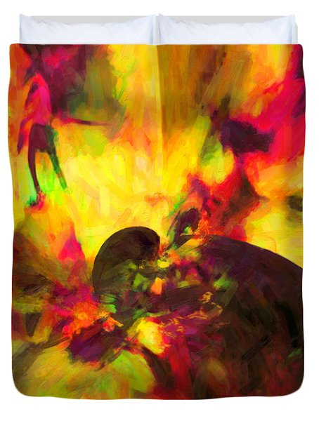Duvet Cover featuring the digital art Corner Of Discovery by Joe Misrasi