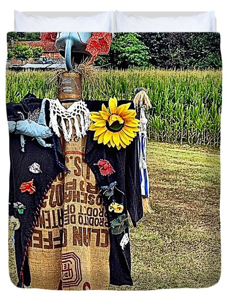 Cornfield Fete Duvet Cover by Lauren Leigh Hunter Fine Art Photography
