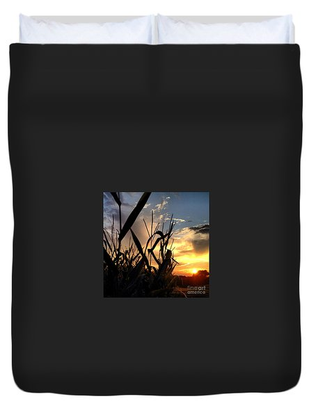 Cornfield Sundown Duvet Cover
