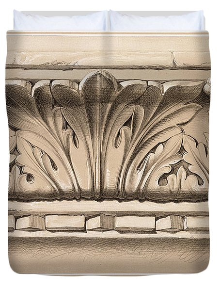 Cornice Moulding, From A Tomb Duvet Cover