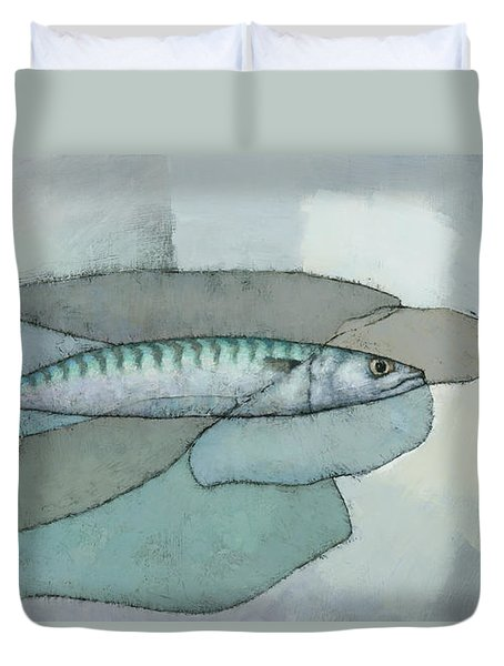 Cornish Mackerel Duvet Cover