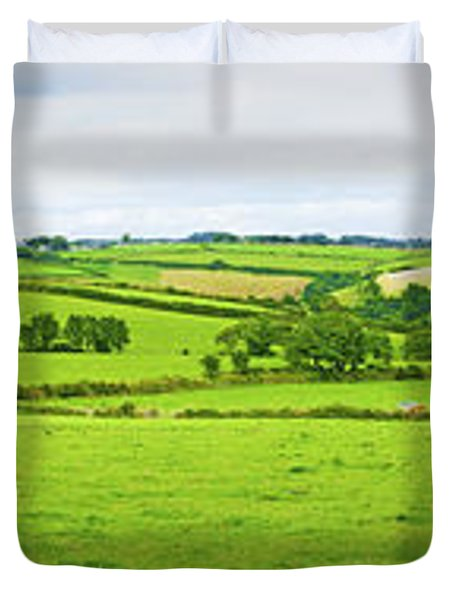 Cornwall Panorama Color Duvet Cover by Chevy Fleet