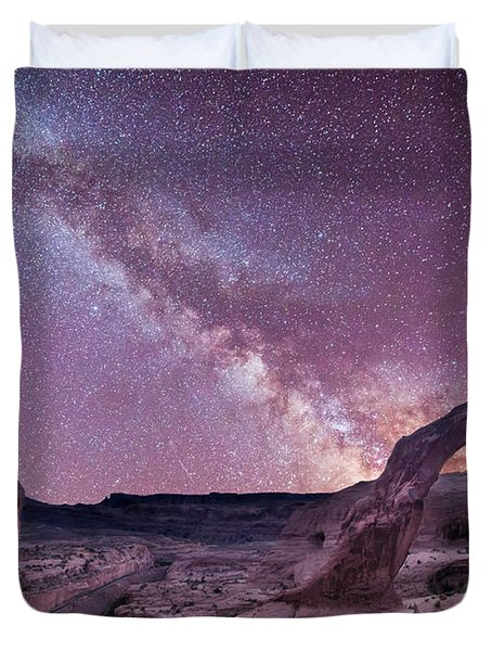 Corona Arch Milky Way Duvet Cover