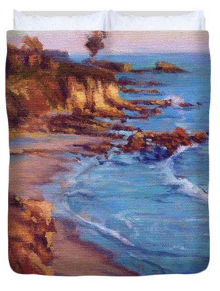 Corona Del Mar Newport Beach California Duvet Cover