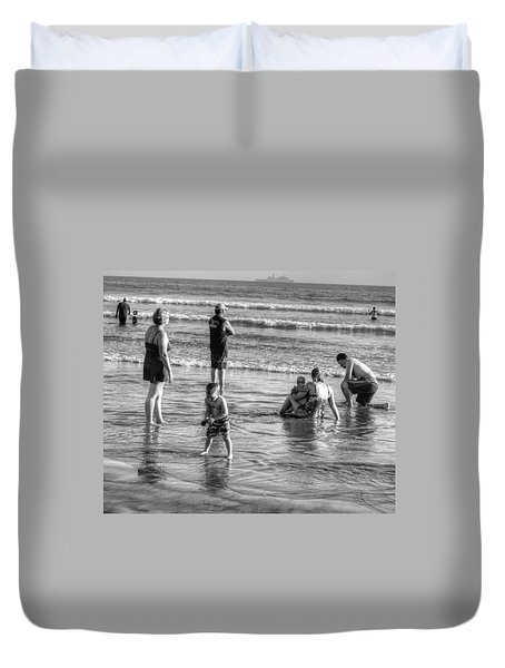 Coronado Beach Tourist Duvet Cover