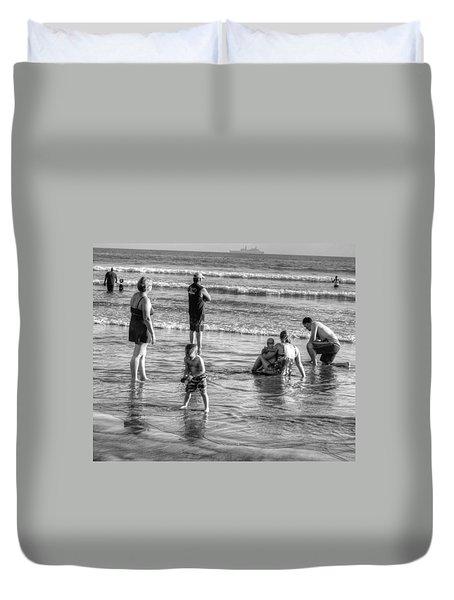 Coronado Beach Tourist Duvet Cover
