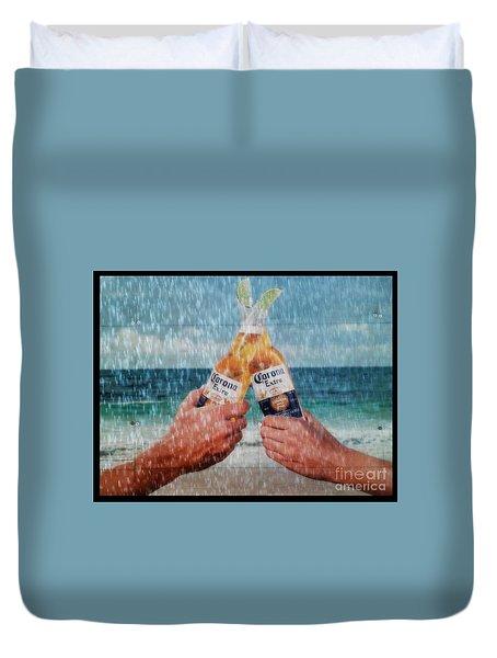 Coronas In The Rain Duvet Cover