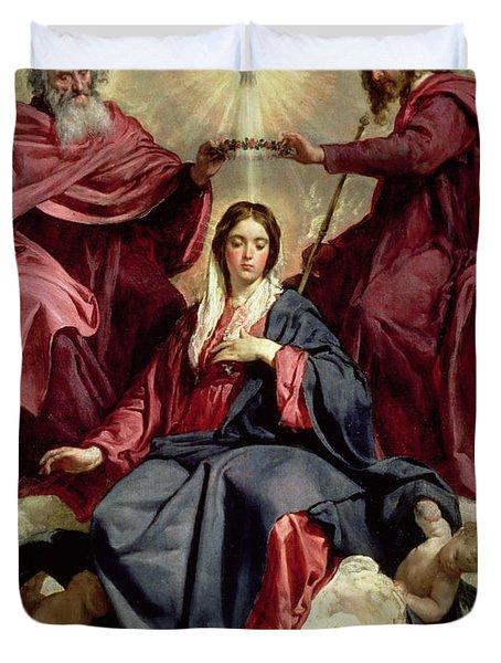 Coronation Of The Virgin Duvet Cover
