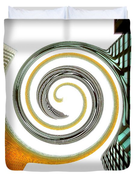 Corporate Merging Duvet Cover by Valentino Visentini