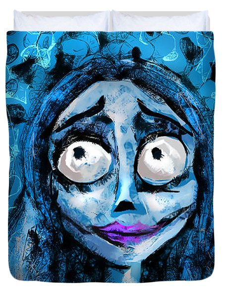 Corpse Bride Phone Sketch Duvet Cover