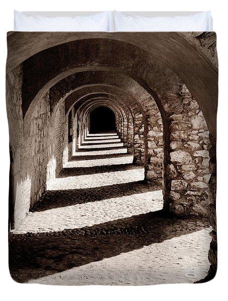 Corridors Of Stone Duvet Cover