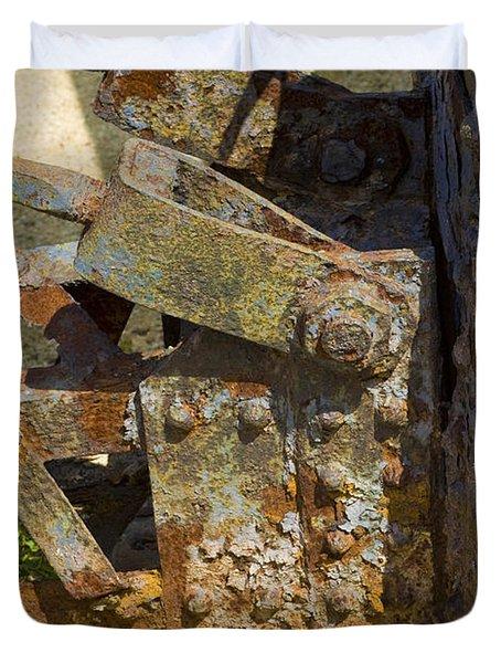 Corroded Steel Duvet Cover