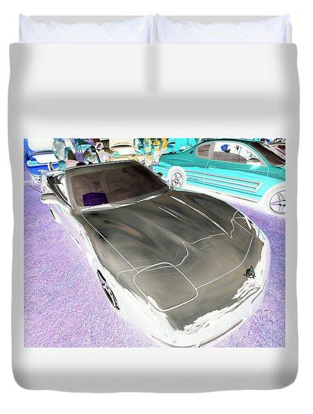 Duvet Cover featuring the photograph Corvette 2003 50th Anniv. Edition by John Schneider