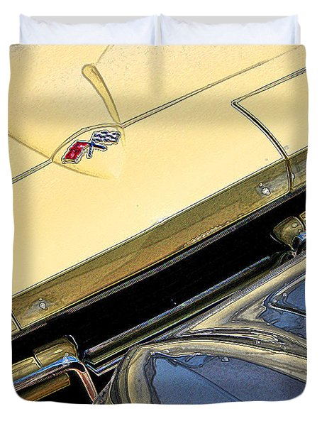 Duvet Cover featuring the photograph Corvette Edges by Christopher McKenzie