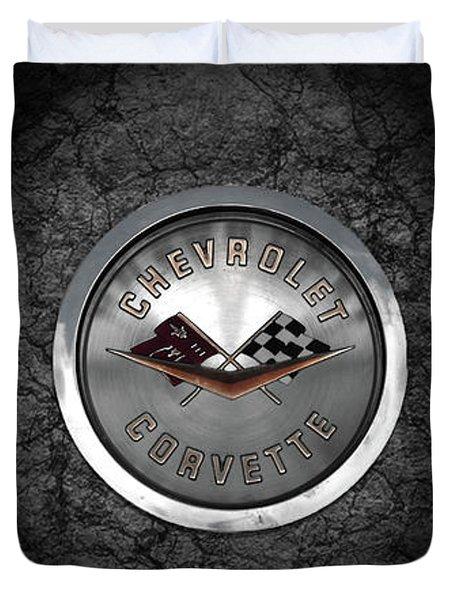 Corvette Emblem Duvet Cover