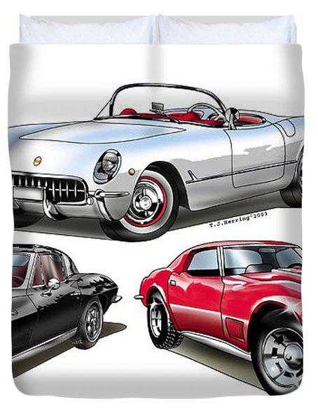Corvette Generation Duvet Cover
