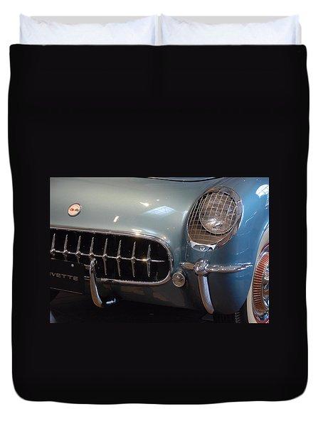 Corvette Roadster 1955 Duvet Cover