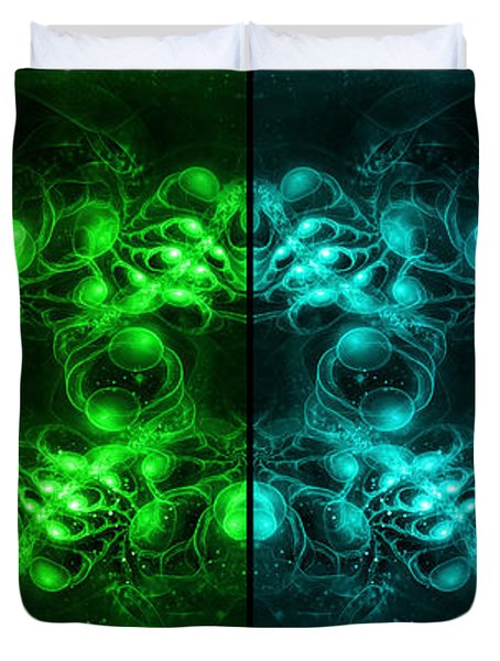 Cosmic Alien Eyes Pride Duvet Cover
