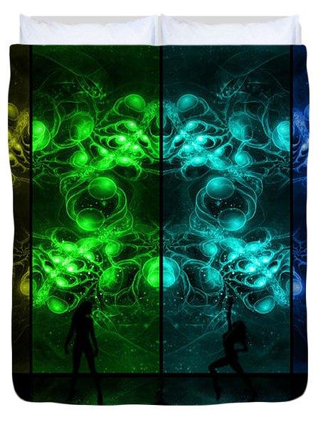 Cosmic Alien Vixens Pride Duvet Cover