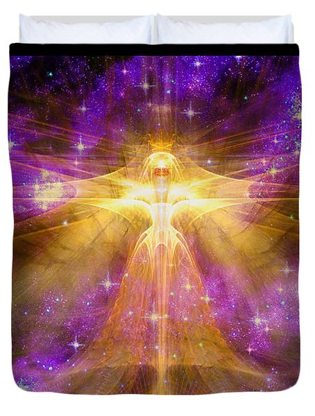 Cosmic Angel Duvet Cover