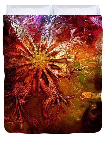 Cosmic Bloom Duvet Cover by Amanda Moore